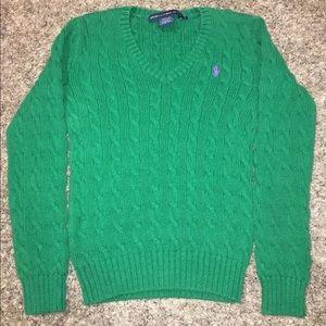 Ralph Lauren Sport Women's Cable Knit Sweater Sz S